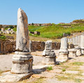 In  Perge Old Construction Asia Turkey The Column  And The Roman Temple Stock Image - 61745031