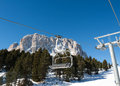 Skiing Area In The Dolomites Alps. Stock Photos - 61745803