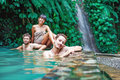 Friends In Hot Spring Stock Image - 61745911