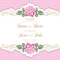 Vintage Wedding Invitation With Roses Stock Images - 61751264