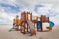 Children Playground. Slide And Climbing Frames Royalty Free Stock Image - 61759286