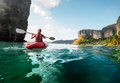 Lady With Kayak Royalty Free Stock Photography - 61760227