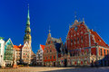 City Hall Square In The Old Town Of Riga, Latvia Stock Photography - 61768442