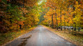 Colorful Country Roads In October. Stock Image - 61768521