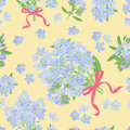 Abstract Texture With Forget-me-not. Seamless Pattern With Flower Bouquet Ornament Stock Photography - 61769362
