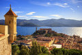 Elba Island, Portoferraio Aerial View From Fort. Lighthouse And Stock Image - 61781461