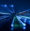 Abstract Zoom Blur City Bokeh Lights Background Royalty Free Stock Images - 61786359