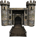 Castle Gate And Bridge Royalty Free Stock Photography - 61796257