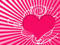 Heart Background In Pink Royalty Free Stock Images - 6184779