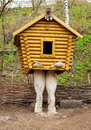 Small Wooden Hut On Chicken Legs Stock Images - 61811114