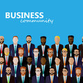 Vector Flat  Illustration Of Business Or Politics Community. Royalty Free Stock Photography - 61820737