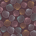 Seashell Background. Abstract Seamless Pattern. Royalty Free Stock Image - 61820896