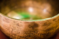 Singing Bowl On A Pillow Close-up View Royalty Free Stock Images - 61830989