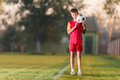 Young Boy With Soccer Ball Royalty Free Stock Image - 61835786