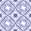 Seamless Blue Floral Pattern. Background In The Style Of Chinese Royalty Free Stock Images - 61839709