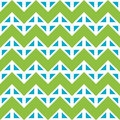 Vector Modern Seamless Colorful Geometry Chevron Lines Pattern, Color Blue Green Abstract Stock Photography - 61843552