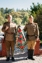 Unidentified Re-enactors Dressed As Soviet Royalty Free Stock Image - 61851526