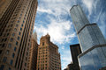 Looking Up At Downtown Chicago Skyscraper Buildings Stock Photo - 61853240