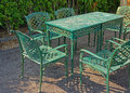 Metal Table And Chairs Royalty Free Stock Photo - 61864325