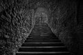 Old Wine Cellar Tunnel Entrance. Stairway Leading To Underground Royalty Free Stock Photo - 61866615