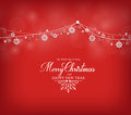 Merry Christmas Greetings Card Design With Snow Flakes Royalty Free Stock Image - 61867156