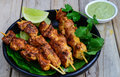 Grilled Chicken Kebabs Stock Photography - 61879572