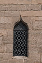 Single Medieval Castle Stained Glass Window Detail Close Up View Royalty Free Stock Photo - 61883785