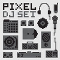 Pixel Art Dj Vector Set Royalty Free Stock Image - 61890886