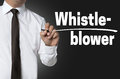 Whistleblower Is Written By Businessman Background Concept Royalty Free Stock Photography - 61896567