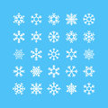 Snowflakes Vector Icons Set Royalty Free Stock Photo - 61898245