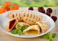 Sweet Pastries With Cherry And Apricot Jam Royalty Free Stock Images - 6193389