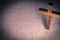 Holy Wooden Christian Cross Royalty Free Stock Image - 61916196