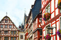 Moselle Valley Germany: View To Historic Half Timbered Houses In The Old Town Of Bernkastel-Kues Royalty Free Stock Photos - 61927668