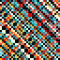 Colored Pixel Pattern In Retro Style Vector Illustration Royalty Free Stock Photography - 61942137