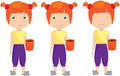 Sad, Pensive And Happy Red-haired Girl, Sleepy And Cheerful Royalty Free Stock Photography - 61945237