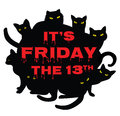 Friday 13 With Black Cats Stock Photo - 61946730