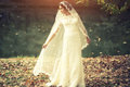 Bride Outdoor In Autumn Royalty Free Stock Photography - 61952967