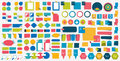 Mega Set Infographics Flat Design Elements, Schemes, Charts, Buttons, Speech Bubbles, Stickers. Royalty Free Stock Images - 61955959