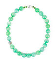 Chalcedony Light Green Necklace. Royalty Free Stock Photo - 61959695