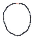Black Pearl Necklace. Royalty Free Stock Photo - 61959895