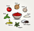 Tomato Sauce Ingredients Royalty Free Stock Images - 61960479