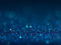 Defocused Abstract Blue Lights Background . Bokeh Lights. Stock Photo - 61964480