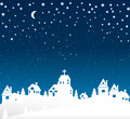 Winter Over The Village Royalty Free Stock Image - 61986896
