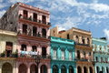 Havana Street Balconies Stock Photography - 61994272