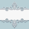 Ornamental Paper Frame With Lace Border Stock Photo - 61996510