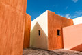 Mexican House Painted Wall And Roof Detail Royalty Free Stock Images - 61999299