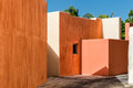 Mexican House Painted Wall And Roof Detail Stock Images - 61999304