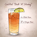Cocktail Dark  N  Stormy Royalty Free Stock Photography - 62002917