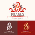 Eight Pearls Emblem Template Design Set Royalty Free Stock Photography - 62011407