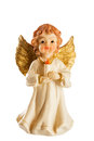 Little Figure Of A Christmas Angel Isolated On White Background Stock Photos - 62013513
